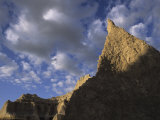 Sunlight on Formations on the Eastern Edge of Badlands National Park