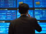 Stock Quotes on Screens at the Tokyo Stock Exchange
