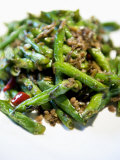Popular Chinese Dish- Green Beans Stirfried with Pork  at Shanghai King Mang Jade Garden Restaurant