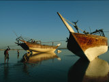 Dhows Lie Beached Near Ra's Al Hadd in Oman