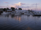 Harbor at Rockland  Maine at Sunset