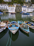 Scenic View of Boats in the Harbor in Polperro