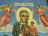 Mosaic Rendering of the Famous Black Madonna of Czestochowa Icon