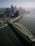 Fort Pitt Bridge over the Allegheny River into Pittsburgh