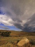 Prairie Grasslands under a Dramatic Cummulus Cloud-Filled Sky