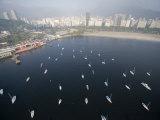 Sailboats on Guanabara Bay in Rio De Janeiro