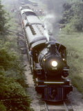 Ex-Northern Pacific 4-6-0 Steam Locomotive No328 on a Steam Fan Trip