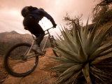 Man Mountain Biking in Sedona Red Rock Country