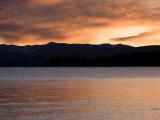 Sunset and Mountains at Lake Tahoe