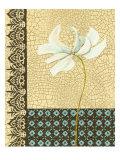 Crackled Tile Botanical I