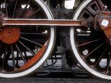 Driving Wheels of Polish National Railways Locomotive Ol49-111