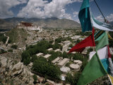 Prayer Flags Above the City of Lhasa and the Potala Palace