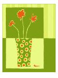 Minimalist Flowers in Green I