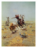 Cowboy Roping A Steer