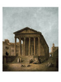 Temple of Augustus in Nimes  1783