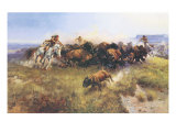 The Buffalo Hunt No. 39 Giclée premium par Charles Marion Russell