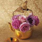 Roses  Teapot and Butterfly