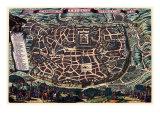 Solomon's Temple - Jerusalem Reproduction d'art par Braun Hogenberg
