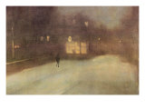 Nocturne In Gray and Gold  Snow In Chelsea