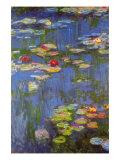 Water Lilies No. 3 Reproduction d'art par Claude Monet
