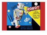 Robot with Flashing Lighted Eyes