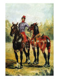 Groom with Two Horses