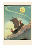 Sailing The Wooden Shoe By Moonlight