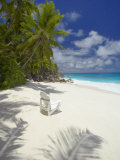 Adirondack Chair and Tropical Beach  Seychelles  Indian Ocean  Africa