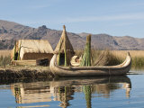 Uros Island  Lake Titicaca  Peru  South America