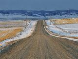 Road Near Pincher Creek  Alberta  Canada  North America