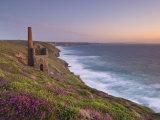 Wheal Coates  Abandoned Disused Cornish Tin Mine at Sunset  North Cornwall  England  United Kingdom