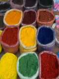 Colourful Spices at Market Stall  Osh  Kyrgyzstan  Central Asia  Asia