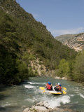 Rafting on Verdon River  Gorges Du Verdon  Provence  France  Europe