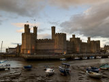 Caernarfon Castle  Caernarfon  UNESCO World Heritage Site  Wales  United Kingdom  Europe