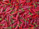 Close-Up of Red Chilies in Nahaufnahme  Osh  Kyrgyzstan  Central Asia