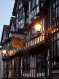 Ye Old Bullring Tavern Public House Dating from 14th Century  at Night  Ludlow  Shropshire  England