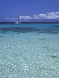 Sea and Sailing Boat  Formentera  Balearic Islands  Spain  Mediterranean  Europe