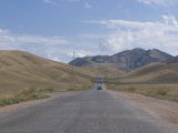 Road Leading into the Tian Shan Mountains  Kyrgyzstan  Central Asia