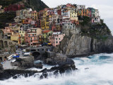 Clifftop Village of Manarola  Cinque Terre  UNESCO World Heritage Site  Liguria  Italy  Europe