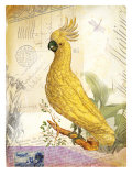 Vintage Botanical Cockatoo Print