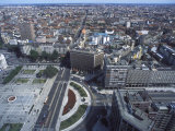 Elevated View over Duca D&#39;Aosta Square  Milan  Lombardy  Italy  Europe