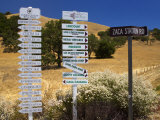 Winery Signs  Santa Ynez Valley  Santa Barbara County  Central California