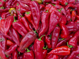 Close Up of Chillies in the Bazaar of Osh  Kyrgyzstan  Central Asia  Asia