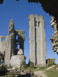 Keep  11th Century Corfe Castle  Dorset  England  United Kingdom
