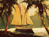 Voilier, Santa Barbara Reproduction d'art par Frederick Pawla
