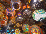 Hanging Lamps on Sale in Souk  Dubai  United Arab Emirates  Middle East