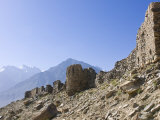 Yamchun Fortress  Yamchun  Wakhan Valley  the Pamirs  Tajikistan  Central Asia  Asia