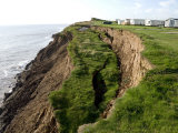 Coastal Erosion with Active Landslips in Glacial Till  Holderness Coast  Humberside  England