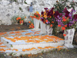 Decorated Graves  Cemetery  Janitzio Island  Day of the Dead  Lake Patzcuaro  Patzcuaro  Michoacan