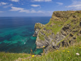 Rugged North Cornwall Coastline at Hell's Mouth Bay  Hudder Down  Cornwall  England